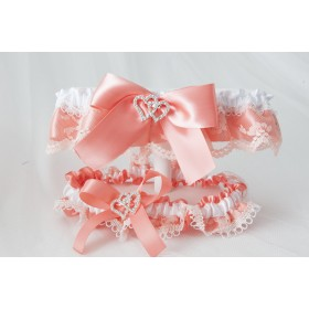 Garter(Coral and white)(J515-515P)