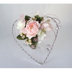 Ring holder (Pink and silver) (HR06)