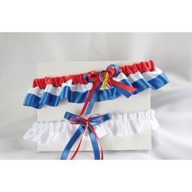 Garter (Red,Royal blue, and white) (J341-341P)